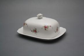 Butter dish small Rokoko Pink roses BB