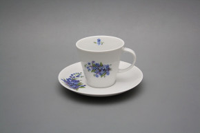 Cup high 0,18l with saucer Tom Forget-me-not BB