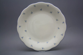 Flat round dish 32cm Alaska ECRU Forget-me-not Sprays AAL