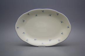 Oval dish 33cm Alaska ECRU Forget-me-not Sprays AAL