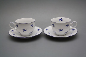 Tea cup 0,18l with saucer Ofelia Blue roses ML