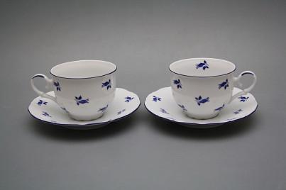 Tea cup 0,18l with saucer Ofelia Blue roses ML č.1