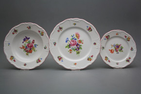 Plate set Maria Louise Pearl 24-piece JRL