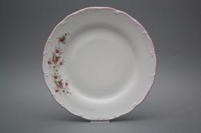 Flat plate 25cm Ofelia Pink roses HRL
