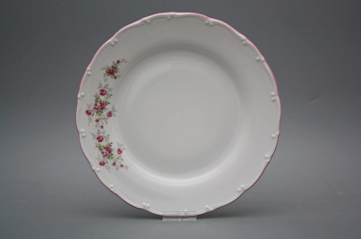 Flat plate 25cm Ofelia Pink roses HRL č.1
