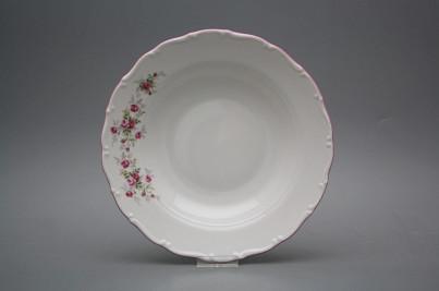 Deep plate 23cm Ofelia Pink roses HRL č.1