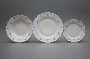Plate set Ofelia Forget-me-not Sprays 24-piece AAL