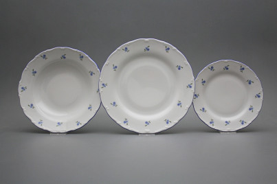 Plate set Ofelia Forget-me-not Sprays 24-piece AAL č.1