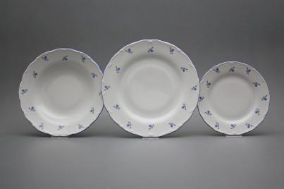 Plate set Ofelia Forget-me-not Sprays 18-piece AAL č.1