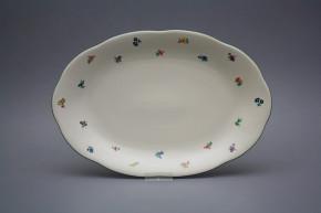 Oval dish 33cm Alaska ECRU Sprays AZL